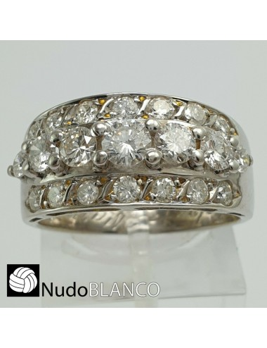 ANTIQUE RETRO HALF WEDDING BAND RING WITH WHITE GOLD AND NATURAL EARTH DIAMONDS